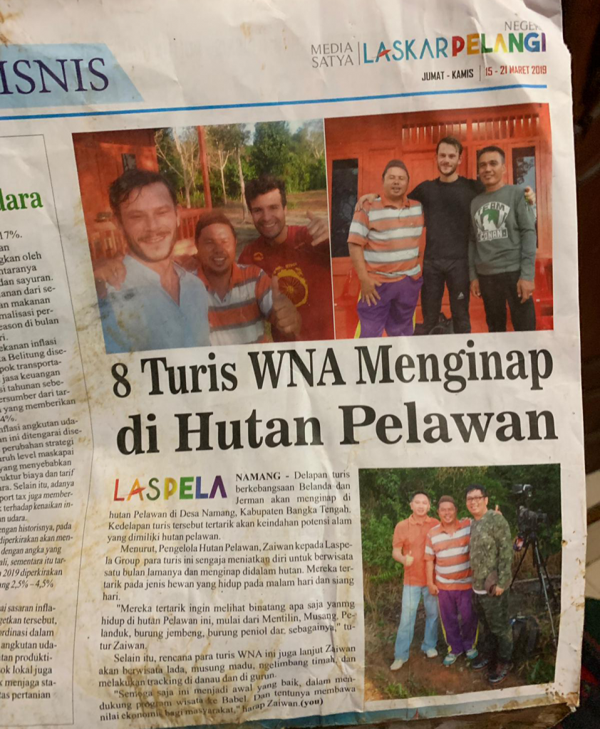 reNature in a local Bangka newspaper