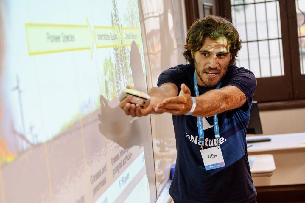 Felipe Villela presenting Agroforestry